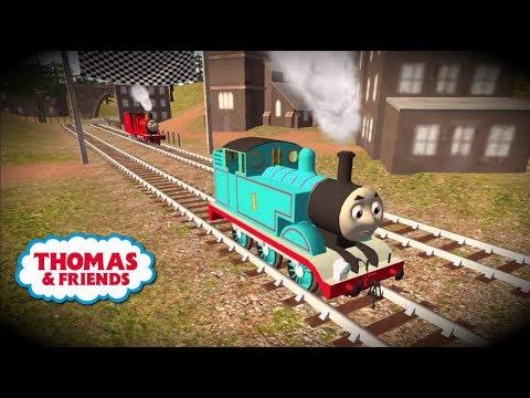 Tomas el tren en español. Thomas y Percy en carrera!! Chu Chu. Completo.