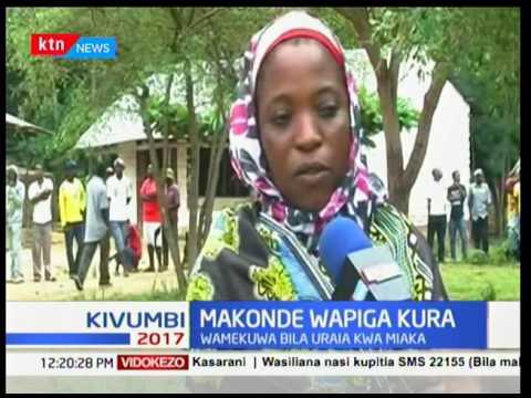 Jamii ya Makonde wapiga kura katika uchaguzi mkuu