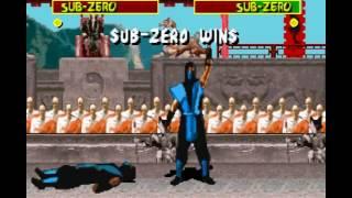 Mortal Kombat 1 Super Nintendo SNES Very Hard Playthrough Sub-Zero