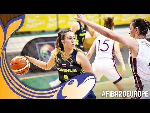 Latvia v Slovenia - Full Game - Quarter-Finals - FIBA U20 Women