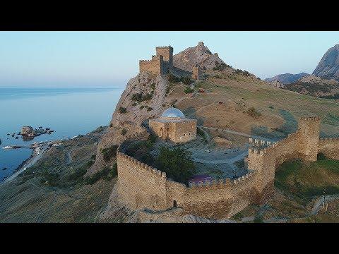 Крым. Судак. Генуэзская крепость. Видео 4К. / Crimea. Sudak. Genoese fortress