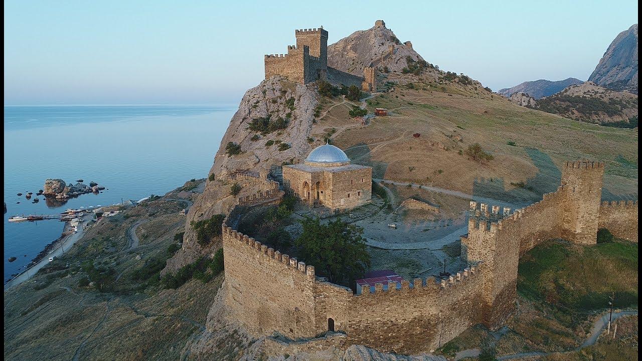 Крым. Судак. Генуэзская крепость. Видео 4К. / Crimea