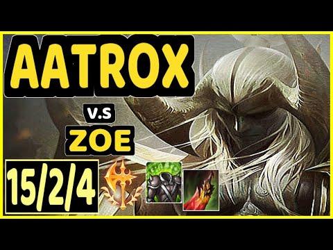 HASHINSHIN (AATROX) vs ZOE - 15/2/4 KDA MID GAMEPLAY - NA Ranked DIAMOND