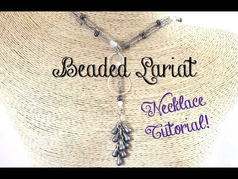 Beaded Lariat Necklace Jewelry Tutorial - Bead with Me!