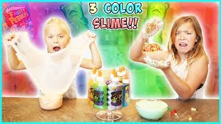 WE DID THE 3 COLOR NO BUDGET SLIME CHALLENGE!!