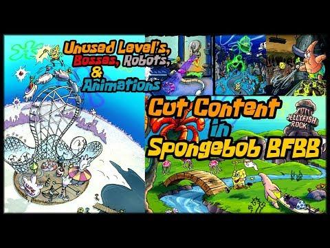 SpongeBob Battle For Bikini Bottom - Cut Content (Unused Levels, Bosses, Robots & Animations)
