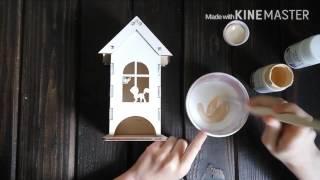 видео Чайный домик с конфетницей своими руками