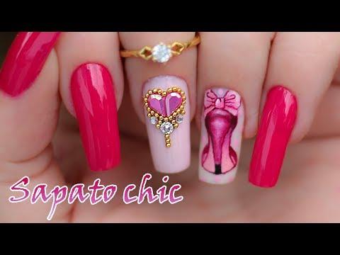 Nail Art Sapato Chic - Nill Art