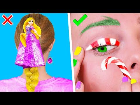 12 Бьюти ЛАЙФХАКОВ и причёсок для девочек на Новый Год! ПРАЗДНИЧНЫЕ СОВЕТЫ И ИДЕИ LIFE HACKS