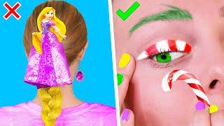 12 Бьюти ЛАЙФХАКОВ и причёсок для девочек на Новый Год ПРАЗДНИЧНЫЕ СОВЕТЫ И ИДЕИ LIFE HACKS