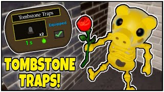 [HALLOWEEN EVENT!] How to get TOMBSTONE TRAPS in PIGGY! (SHOWCASE & ALL STEPS!) - ROBLOX