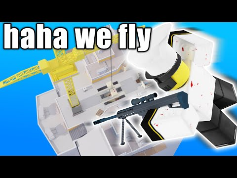 FLY HACKING IN ARSENAL | ROBLOX