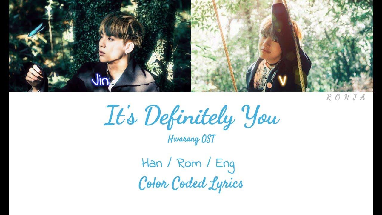 V Jin It S Definitely You Color Coded Lyrics Youtube