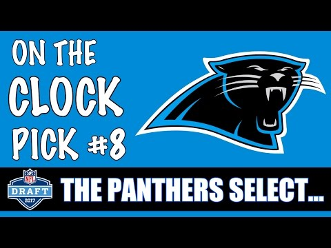 Carolina Panthers 8th overall pick will be...