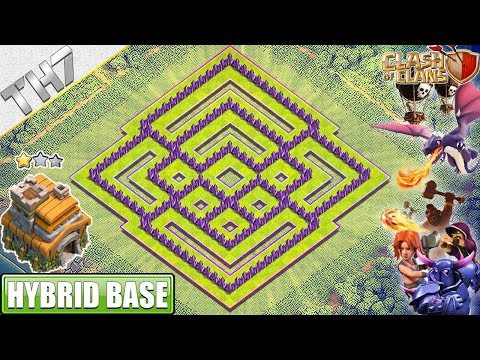 NEW BEST TH7 Base (FARMING/TROPHY) 2019 With REPLAY!! Town Hall 7 Hybrid Base - Clash Of Clans