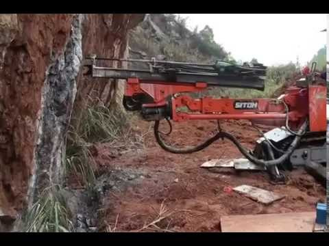 Jumbo drilling rig, Mining boomer, Siton single boom crawler Drilling jumbo working video