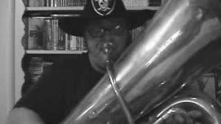 OAKLAND RAIDERS Theme Song Played on the Contrabass Tuba...