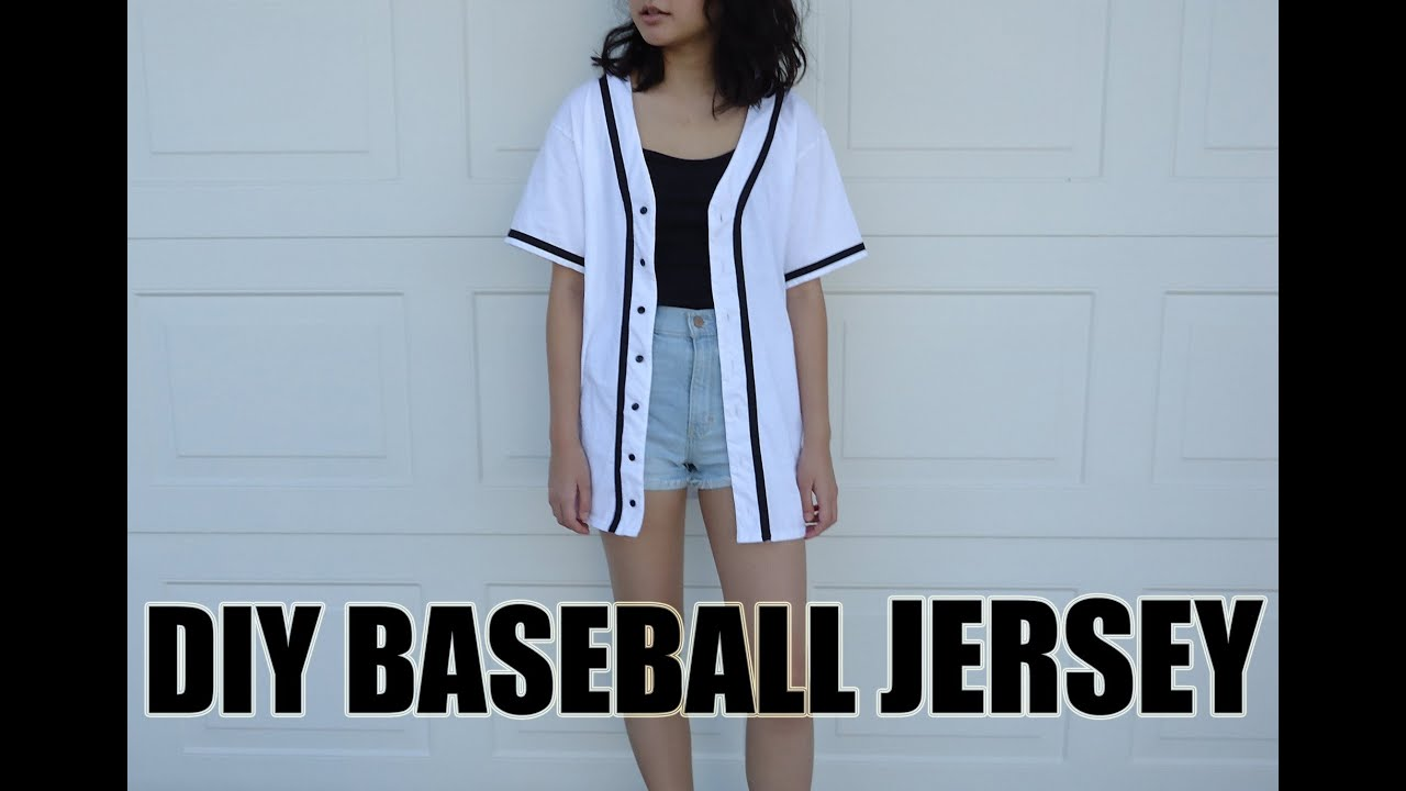 Diy Baseball Jersey From A T Shirt Youtube