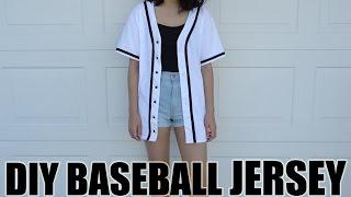 DIY: Baseball Jersey from a T-Shirt