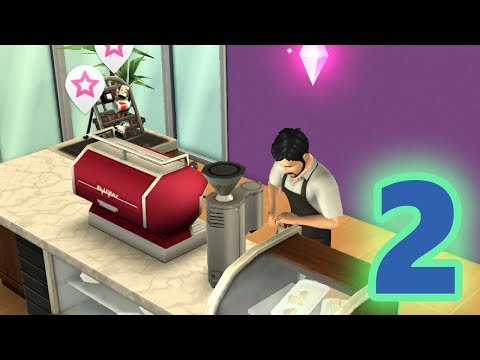 BARISTA JOB IS NOT BAD! | LET'S PLAY THE SIMS MOBILE PART 2