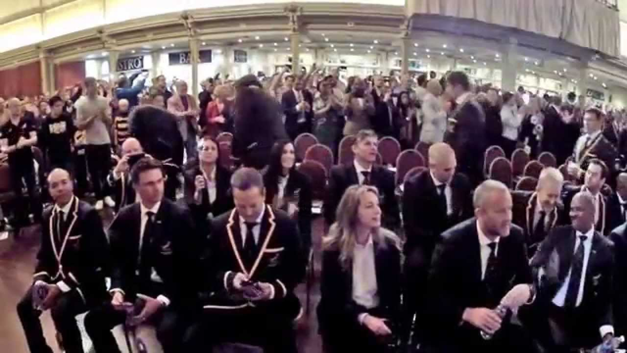 rwc 2015 springboks welcoming ceremony at the winter garden
