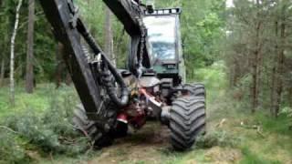 Forest machine in Poland