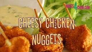 Cheesy Chicken Nuggets. Crispy Fried Chicken Nuggets With A Wonderful Cheesy Flavor.