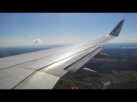 Ryanair FR52 London Stansted (STN) - Stockholm Skavsta (NYO) Boeing 737-800 EI-EKK *FULL FLIGHT*