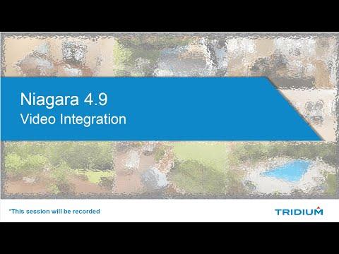 TridiumTalk: HTML5 Video Streaming With Niagara 4.9 (August 13, 2020)