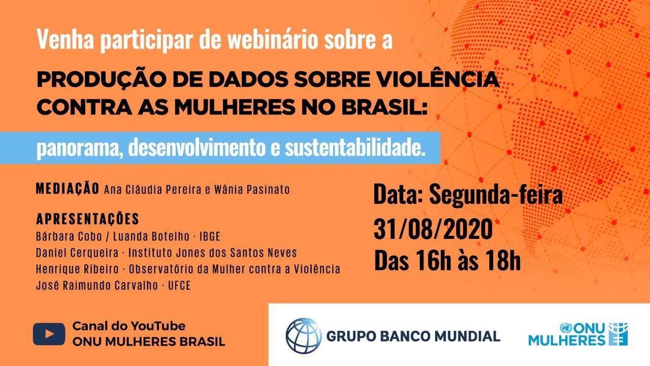 Webinário -Produção de dados sobre Violência Contra Mulheres no Brasil