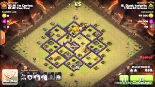 *Must See* TH8 Mass Dragons vs Hogon 3 Star War Attacks Clash Of Clans Post Update