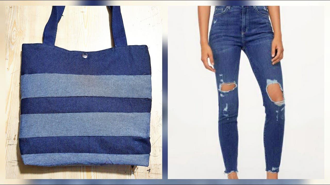 Bolso con retazos de jeans reciclado / Recycled jeans bag DIY