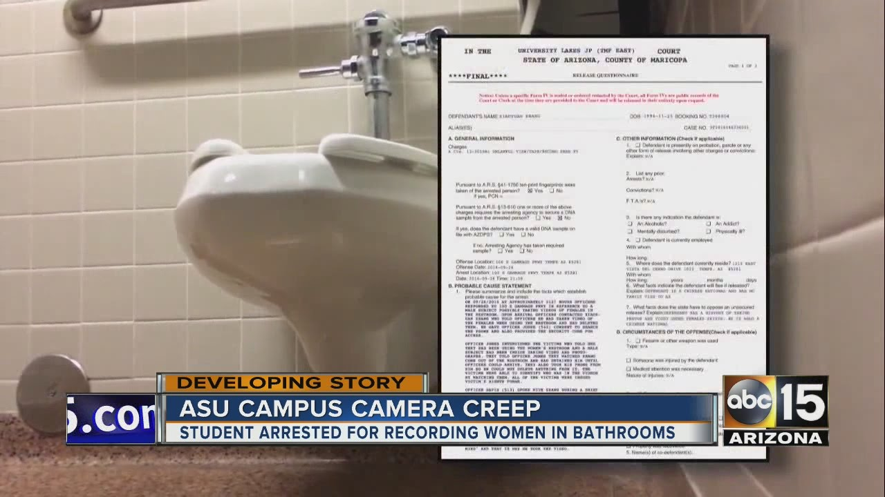 Girls Bathrooms Man Arrested Allegedly Videotaping Girls In Bathroom At Arizona State University