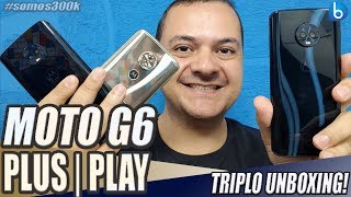ABRI AS CAIXAS DO MOTO G6 | MOTO G6 PLAY | MOTO G6 PLUS | TODOS NESTE VÍDEO!!!