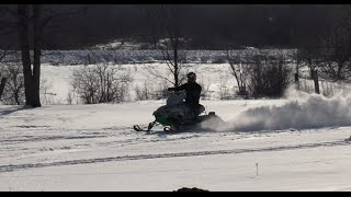 First ride on the Arctic Cat Snopro 440/600!