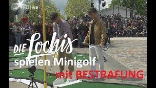 Die Lochis spielen Minigolf mit Bestrafung im ZDF Fernsehgarten