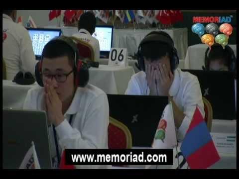 Memories of Memoriad 2012 : World Memory and Mental Arithmetic Olympics