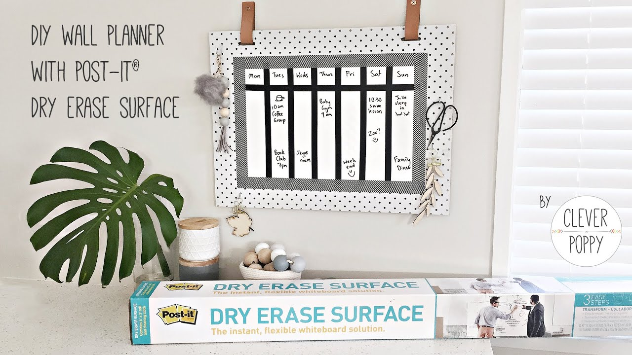 Diy Calendar Singapore : Diy wall planner with post it dry erase surface by cle
