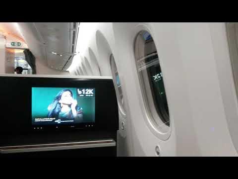 Oman Air, New Business Class, Dreamliner Boeing 787. Zürich to Muscat