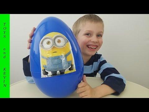 Большое яйцо с сюрпризом МИНЬОНЫ Киндер сюрприз Детские игры и видео для детей