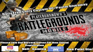 Pubg Mobile Giveaway Daily Free Entry Live Custom 16 Aug2020 [Gun Point Star Live Now]