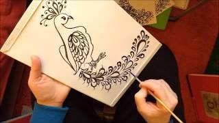 Как нарисовать павлина(Как нарисовать павлина кистью и акриловыми красками. Синтетическая кисть №4 Нow to paint peacock Уроки письма...., 2016-03-19T06:36:46.000Z)