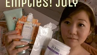 EMPTIES! | Hada Labo, St. Ives, Ma Cherie, L'Occitane, Asience, Olay, Kiehl's |July 2014 Thumbnail