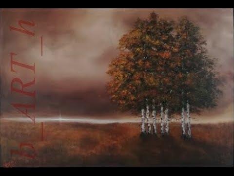 Malen Mit Acrylfarben Birkenbäume Birch Trees Youtube
