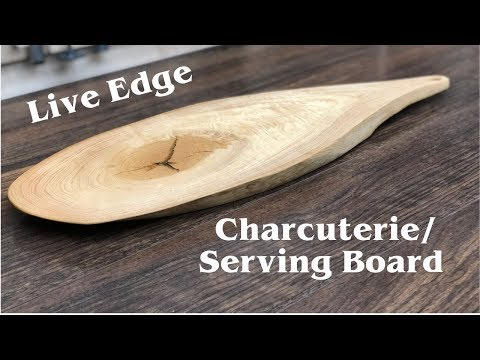 Live Edge Charcuterie Serving Board //  How To - Woodworking