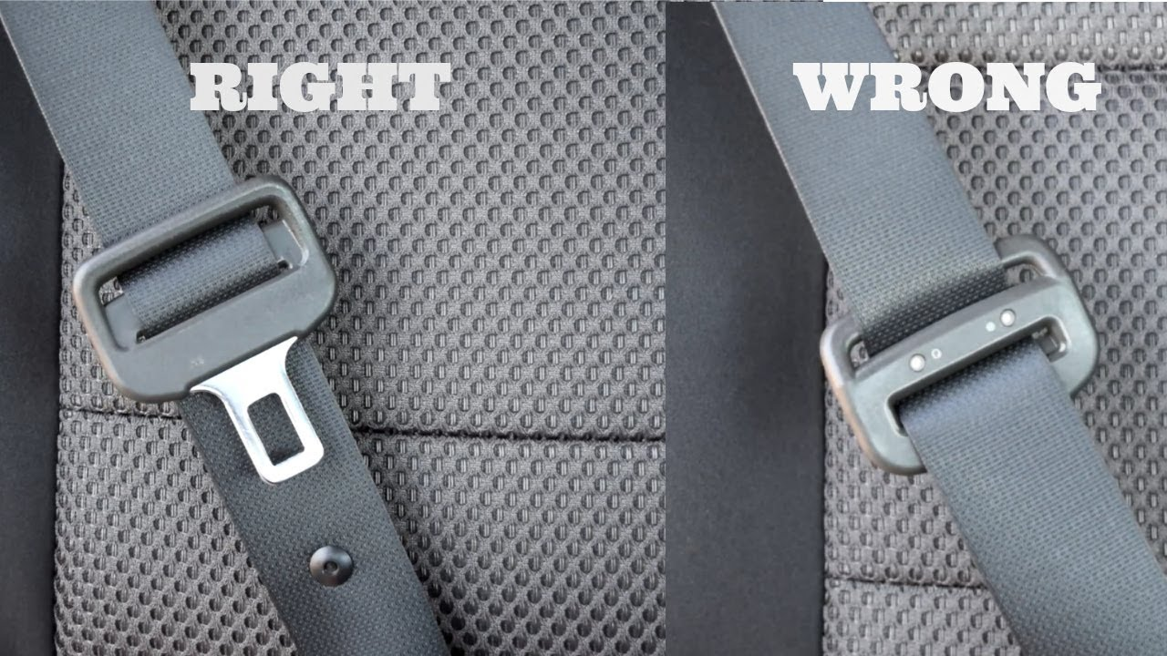 Seat Belt Turned Around Reverse Backward Twisted Buckle Most Make