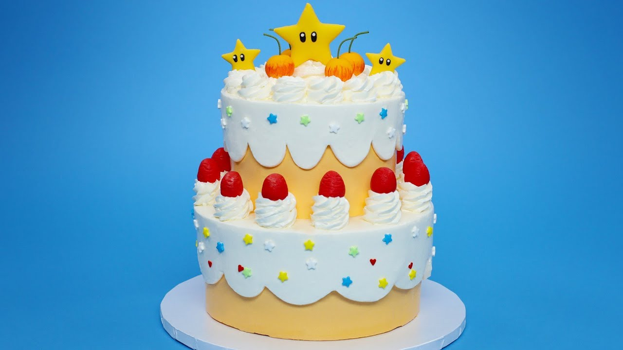 Princess Peach Cake Super Mario Nerdy Nummies