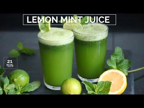 Lemon mint juice - lemon mint lemonade - عصير ليمون نعنع المنعش