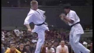 """Kyokushin Karate"" KO (back spin & other kick)"
