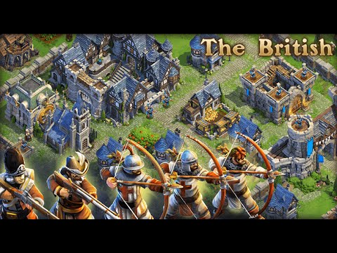 DomiNations - British Early Game Iron Age Longbow Men Archer Raid Strategy!